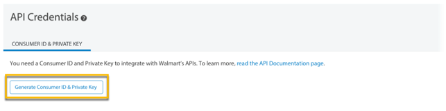Article: API Credentials - Generate Your Consumer ID and Private Key